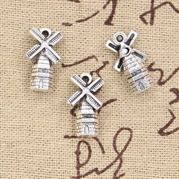 windmill pendant Promo Codes - 6pcs Charms windmill winnower 17*9mm Antique pendant fit,Vintage Tibetan Silver,DIY for bracelet necklace
