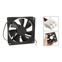 Wholesale Computer Ram Wholesale - PROMOTION! 90mm x 25mm DC 12V 2Pin Cooling Fan for Computer Case CPU Cooler