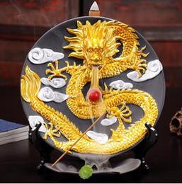 Wholesale brass bases - Yxy inicio decoración cerámica grande incensario dragón salón creativo dragón Adornos sándalo incienso Bases horno