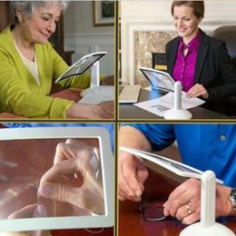 Wholesale Reading Magnifiers - Brighter Viewer LED Magnifier Screen Magnifier Old Men Reading Viewer Screen Vision Care Magnifying Glasses CCA8694 36pcs