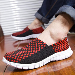 Wholesale women casual shoes woven - Hot sell New fashion weave mens women casual breathable sports shoes walking shoes free shipping Free Run men running shoes