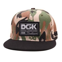 Wholesale Camouflage Baseball Hats - camouflage cap unisex baseball caps DGK adjustable snapback gorras hats for men fashion cap women 2018