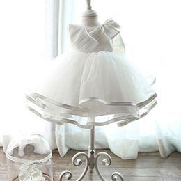 Wholesale Korean Princess Photo - 2018 Korean wedding dress skirts bow grip fold girls dress princess skirt Tutu mesh factory direct