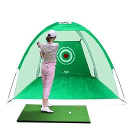 2019 golf übungsmatten Großhandel Golfkäfige üben Netztrainer Indoor die Net Set Golf Chipping Net Golf Trainingshilfen günstig golf übungsmatten