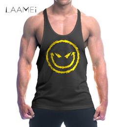 10183088c027df Discount funny fitness tank tops - Laamei Brand Funny Printed Tank Top Men  Musculation Vest Men