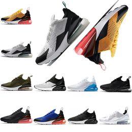 2019 sneakers marron pour femmes 270 chaussures de course pour les femmes sneakers 270 s Bruce lee photo bleu armée vert blanc bleu turquoise Triple Noir Blanc Marron chaussures de sport sneakers marron pour femmes pas cher