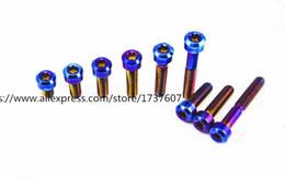 Wholesale Alloy Bolts - 1PCS Titanium alloy Bolt Bicycle Headset Bolt Bike Column Screw Motorcycle screw M6x10 15 20 25 30 40 50 60 70 80 90mm