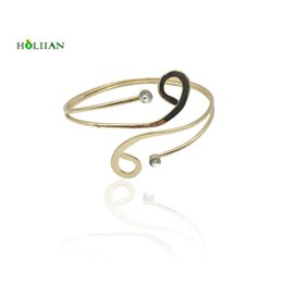 Wholesale Beach Arms - whole sale2017 new carter love bracelet&bangles punk upper arm bracelet cuff rose Gold-color hiphop spiral beach armlet women mujer bijoux