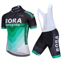 Wholesale cycling jersey bib shorts white - 2018 Bora Hansgrohe Summer cycling jersey and bib shorts kit Four-color