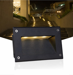 Wholesale Recessed Step - led stair light 3W underground lamps IP67 deck step paitio recessed inground lights floor garden landscape wall outdoor lighting
