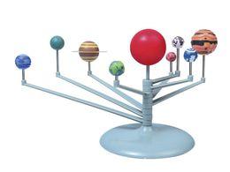Fai da te Il sistema solare Nove pianeti Giocattolo educativo Planetario Kit modello Scienza Astronomia Progetto Educazione precoce per i bambini da