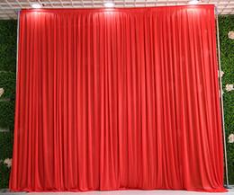 3 m * 3 m telón de fondo para cualquier color Fiesta de la fiesta del festival Celebración de la boda Escenario Fondo Drapeado Drape Wall valane backcloth desde fabricantes