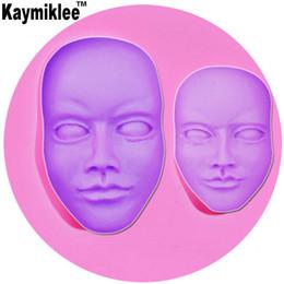 2019 silikon menschliche gesichtsmaske Kaymiklee M111 Menschliches Gesicht Maske geformt Silikon Formen Fondant Kuchen Dekoration Zuckerfertigkeit Werkzeuge backen werkzeuge kuchen günstig silikon menschliche gesichtsmaske
