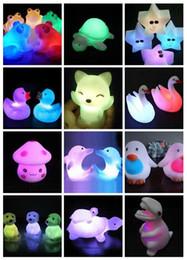 brinquedo cão rã Desconto Decorações da festa de celebração Animal Sapo Tartaruga Do Cão Sete Cores Mutável Led Piscando Luzes Da Noite Lâmpada de Brinquedos