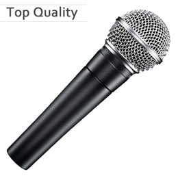 Wholesale Real Dynamics - Top Quality Real Transformer Clear Sound SM 58 58LC Wired Vocal Karaoke Handheld Dynamic Microphone Microfone Mic