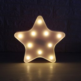 cadeaux décoratifs de bureau Promotion 3D LED Veilleuse Romantique Table De Bureau Nuit Lumière Étoile Bête Tête Lampe Décorative pour Chambre Enfants Enfants Chambre Bureau Vacances Cadeau
