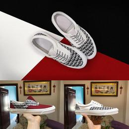 2020 sapatos de lona casais Atacado Clássico Medo De Deus NÉVOA Low-Cut Preto e Branco Xadrez Lona Casal Sapatos Casuais Estudante Esportes Sapatos Tamanho 35-45 sapatos de lona casais barato