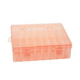 Wholesale Organizer Storage Beads - Multi Function Hard Plastic 24 Slots Adjustable Jewelry Storage Box Case Craft Organizer Beads