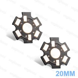 Dissipatore di calore in alluminio per led online-Dissipatore di calore Base in alluminio LED PCB 20MM 1W 3W Per lampadina Spotlight Piastra in alluminio Silvery Black Alta potenza 1,5 MM Spessore EPACKET