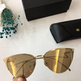Wholesale linda farrow - Linda Farrow Coating Sunglasses 2018 Men Women Fashion England eyewear Cat eye Lens eyeglasses driving glasses MATTHEW WILLAMSON Sunglasses
