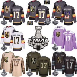 2018 Vegas Golden Knights Stanley Cup Final 17 Vegas Strong Green Gray USA  Flag Fashion Purple Fights Cancer Practice Gold Hockey Jerseys e40ba62f8
