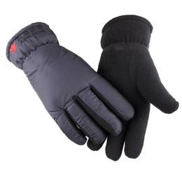 Gants de travail d'hiver chauds moto de conduite extérieure doublée de laine imperméable pour les hommes ? partir de fabricateur