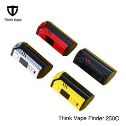 dna box Rabatt Neupreis Heiße Original Think Vape Finder 250C Box Mod mit Evolve DNA 250C Chip Aktualisiert von Thinkvape Finder 250W Mod