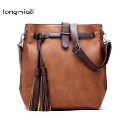 Wholesale Locked Belts For Women - longmiao Leather Belt Bags for Women 2017 New Style Women Cross Pattern Lock Flap Casual Tassel Zipper Small Fringe Bags