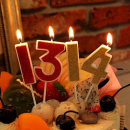 24pcs Lot Number Candle Gold 0 9 Flameless Children Adult Birthday Cake Decorating Baby DIY Candles Decor