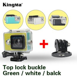2019 originale xiaomi yi camera KingMa Original per Xiaomi Yi 1 Custodia impermeabile Mi Yi 40M Diving Sport Box impermeabile Yi Action Camera aksesoris Accessori originale xiaomi yi camera economici