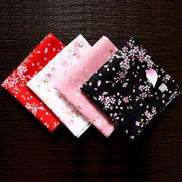 Fiore bello online-48 * 48 cm Hot Cherry Blossoms Ladies Fazzoletti Bel regalo per le donne 100% Cotone Multi-Use Casual Square Hankies Sy513