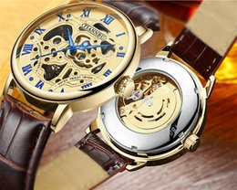 Wholesale Genuine Blue Sapphire - VIP AAAAA Luxury Watch For Men Fashion Classic Style Genuine Leather Strap High Quality Original Automatic Movement Wristwatches Sapphire
