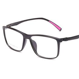 Wholesale Eyeglass Tips - Fashion Men Square Optical Glasses Frame TR90 Glasses Frame eyeglasses Men Ultra Light Soft Myopia Reading Eyewear With Tip