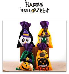 78e1e33e88 4styles Halloween drawstring candy bag Tessuto non tessuto fumetto  totePortable Palmare Ghost Festival Decorazione regalo magico sacchetto  FFA787 100 pz ...