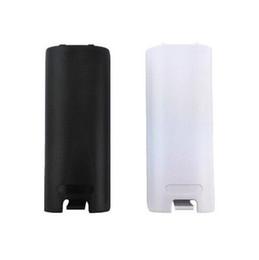 Canada Remplacement de la coque de couvercle de la coque arrière en plastique de la batterie pour télécommande Wii Porte de la batterie noir blanc DHL FEDEX EMS livraison gratuite Offre