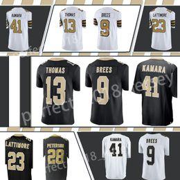 New Orleans Saints 9 Drew Brees 41 Alvin Kamara 23 Marshon Lattimore 13  Michael Thomas 28 Adrian Peterson Men s Jersey c9161d2eb