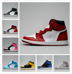 Wholesale mens mandarin - New Mens 1 OG Top Men Basketball Shoes 1S OG Sneakers AAA Quality Mandarin duck Trainers Mens Sport Sneakers Shoes Size 7-13