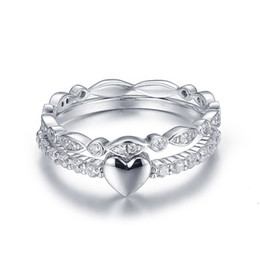 Wholesale nobles for sale - Noble S925 Silver Lovers ring Hot Sale Trend Fashion Love Heart Couple ring for Women man wedding Rings jewelry gift NBR003