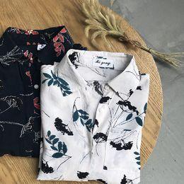 2019 blusa de solapa blusa suelta tops Mooirue Otoño 2018 Blusas Mujer Casual Coreano Boyfriend Ins Printing solapa larga Plaid Loose Chiffon Femininas Tops y Blusas blusa de solapa blusa suelta tops baratos