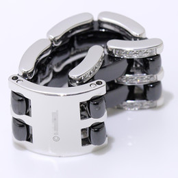 2019 c frankreich Frankreich Keramik Ring Paris C Logo Diamantring Ultra-Serie Schwarz Weiß Keramik Frauen Hochzeit Ringe Younguniquedistinctive Ring rabatt c frankreich