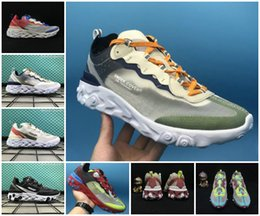 Wholesale women for sail - Hot 2018 Epic React Element 87 Undercover Men Running Shoes For Women Designer Sneakers Sports Mens Trainer TN 270 Shoes Sail Light Bone