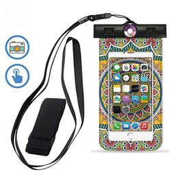 Wholesale iphone uv - UV-Resistant Sensor Universal Waterproof Case Cellphone Dry Bag Pouch for iPhone X 8 7 7Plus 6S 6 6SPlus