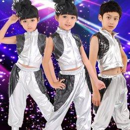 Argentina Ropa de rendimiento de Jazz para niños Niñas Ropa de baile Niños en traje de baile moderno supplier modern boys clothes Suministro