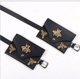 Piccolo sacchetto di cintura esterno online-Vestito per il tempo libero da donna europea e americana, con stile caldo, con piccole tasche per cintura