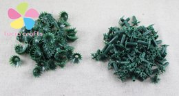 Wholesale Florist Wholesalers - 200pcs lot 1cm Mixed 2 Styles Mini Torus Flowers Leaves Green Artificial Florist Crafts DIY Stocking Leaf Material 086020063
