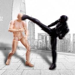 Figuras desnudas online-Nuevo diseño 6 estilo 3d desnudo masculino hombro estrecho músculo cuerpo figura color gris pálido Figma Shfiguarts ferrita Pvc figuras de acción juguete