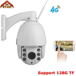 2019 4g camera outdoor Stardot Sem Fio 4G câmera ip Ao Ar Livre PTZ 1080 P 4g 3G cartão SIM ptz speed dome câmera ip 128G TF segurança câmera de vigilância 4g camera outdoor barato