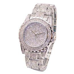 2019 bracelet de diamant en gros Or Nouvelle Horloge Or Mode Hommes montre Diamants En Acier Inoxydable Montres À Quartz Montre-Bracelet En Gros hommes 2018 #D promotion bracelet de diamant en gros