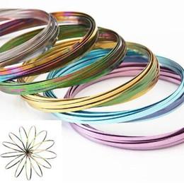 Wholesale Flow Toys - 9 Colors Flow Toys Arm Slinkey Toy Flow Rings Kinetic Spring Bracelet Science Educational Sensory Interactive Cool Toys CCA9279 50pcs