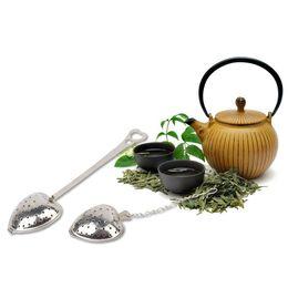 Wholesale Heart Shaped Tea - Durable 4.3cm Dia Heart Shaped Tea Strainers Stainless Steel Infuser Adjustable Herb Loose Leaf Filter Tea Bags